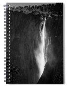 Horsetail Falls Yosemite Black And White Spiral Notebook