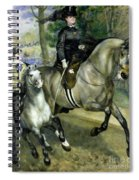 Horsewoman In The Bois De Boulogne Spiral Notebook