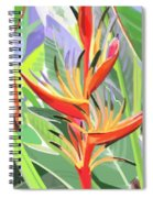 Hort Park Heliconia Spiral Notebook