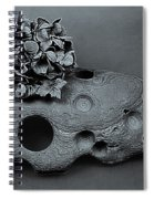 Hortensia Stone Circle Of Life Bw Spiral Notebook