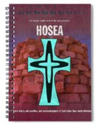 Hosea Books Of The Bible Series Old Testament Minimal Poster Art Number 28 Spiral Notebook
