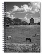Horses Grazing At Mancos Grain Elevator Spiral Notebook