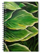 Hostas And Grass Painting Spiral Notebook
