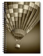Hot Air Balloon And Bucket In Sepia Tone Spiral Notebook