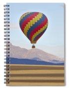 Hot Air Balloon And Longs Peak Spiral Notebook