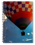 Hot Air Balloon Eclipsing The Sun Spiral Notebook