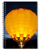 Hot Air Balloon Glow Spiral Notebook