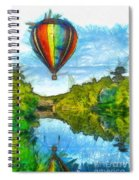 Hot Air Balloon Woodstock Vermont Pencil Spiral Notebook