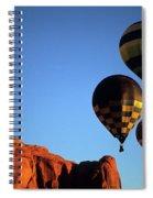 Hot Air Balloon Monument Valley 5 Spiral Notebook