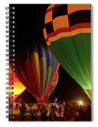 Hot Air Balloons At Night October 28, 2017 #2 Spiral Notebook