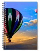 Hot Air Balloons At Sunset Spiral Notebook