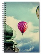 Hot Air Balloons Float Over Lewiston Maine Spiral Notebook