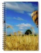 Hot Air Balloons Over A Wheat Field Spiral Notebook