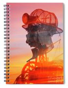 Hot And Steamy Man Engine Spiral Notebook