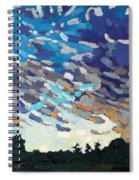 Hot August Sunrise Spiral Notebook