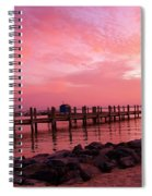 Hot Bay Sunset Spiral Notebook