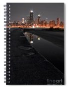 Chicago Hot City At Night Spiral Notebook