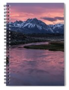 Hot Creek Sunset Spiral Notebook