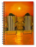 Hot Day At The Beach Spiral Notebook