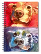 Hot Dog Chilly Dog Study Spiral Notebook