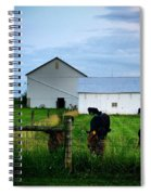 Hot Eve Night On The Farm Spiral Notebook