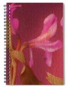 Hot Pink Lilies Spiral Notebook