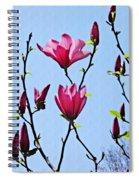 Hot Pink Magnolias Spiral Notebook