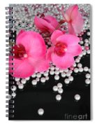 Hot Pink Orchids 2 Spiral Notebook