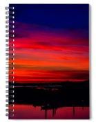 Hot Pink Sunset Spiral Notebook
