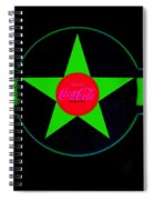 Hot Red On Cool Green Spiral Notebook