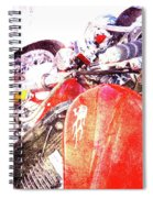 Hot Red Spiral Notebook
