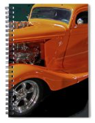 Hot Rod Orange Spiral Notebook