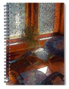 Hot Sun On Wrought Iron Spiral Notebook