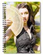 Hot Woman Spiral Notebook