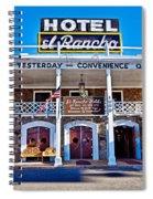 Hotel El Rancho Spiral Notebook