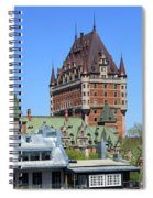 Hotel Fairmont Le Chateau Frontenac 6496 Spiral Notebook