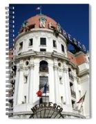 Hotel Negresco In Nice Spiral Notebook