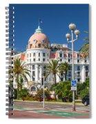 Hotel Negresco On English Promenade In Nice Spiral Notebook