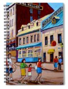 Hotel Nelson Old Montreal Spiral Notebook