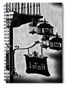 Hotel Sign - Reality And Shadow Spiral Notebook