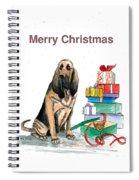 Hounddog Christmas Spiral Notebook