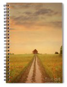 House At The End Of A Track In A Poppy Field Spiral Notebook