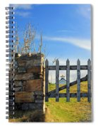 House Behind The Fence Spiral Notebook