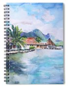 House By The Lagoon In French Polynesia Spiral Notebook