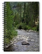 House By The Stream In Vail 1 Spiral Notebook