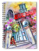 House Entrance In Garrucha Spiral Notebook