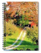 House In The Hills Spiral Notebook