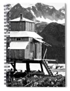 House Of Stilts Bw Spiral Notebook