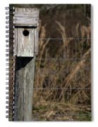 House On A Crooked Fence Post Spiral Notebook