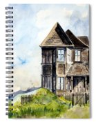 House On Little Lake Street Mendocino Spiral Notebook